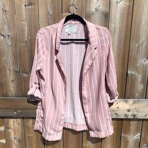 NWT Iris Los Angeles Pink And White Striped Blazer